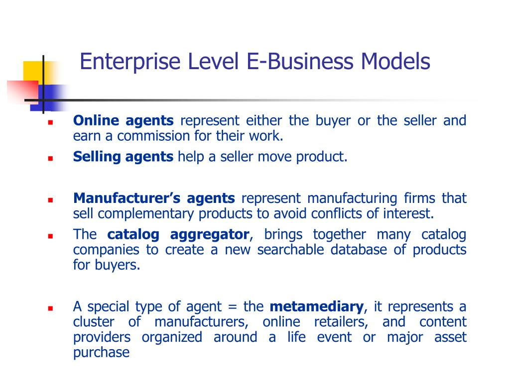 Enterprise Level E-Business Models