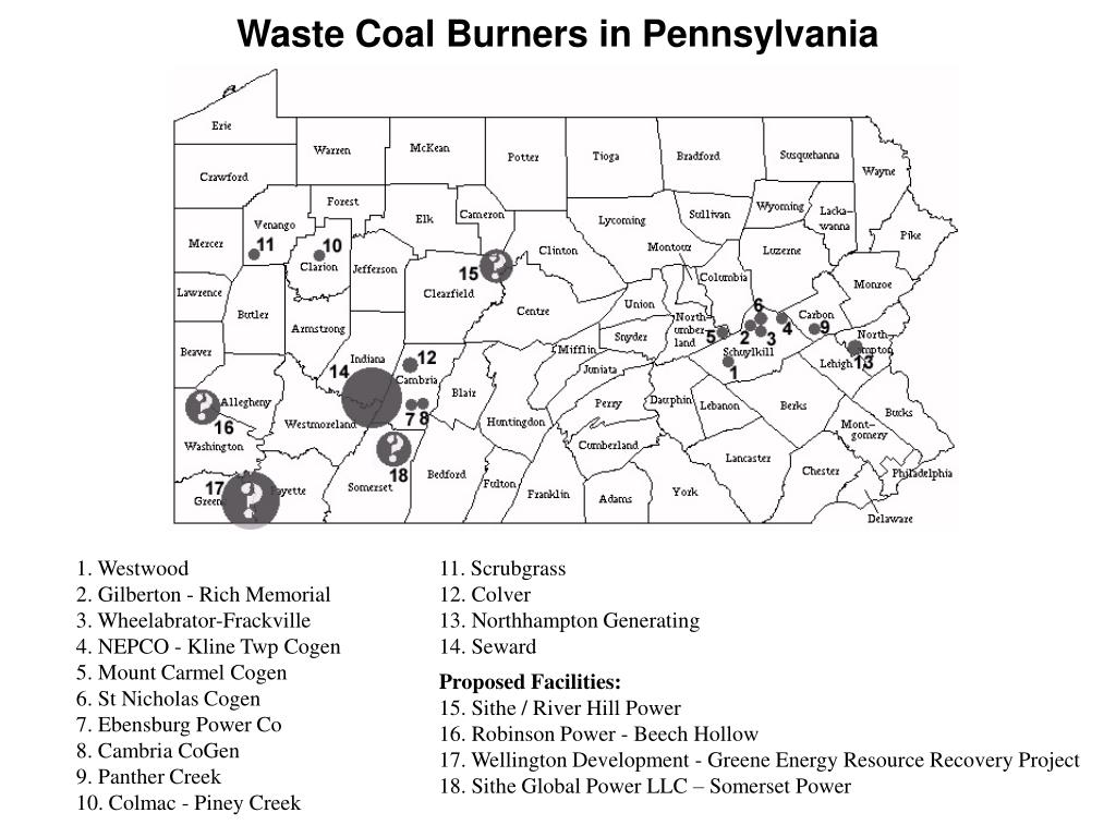 Waste Coal Burners in Pennsylvania