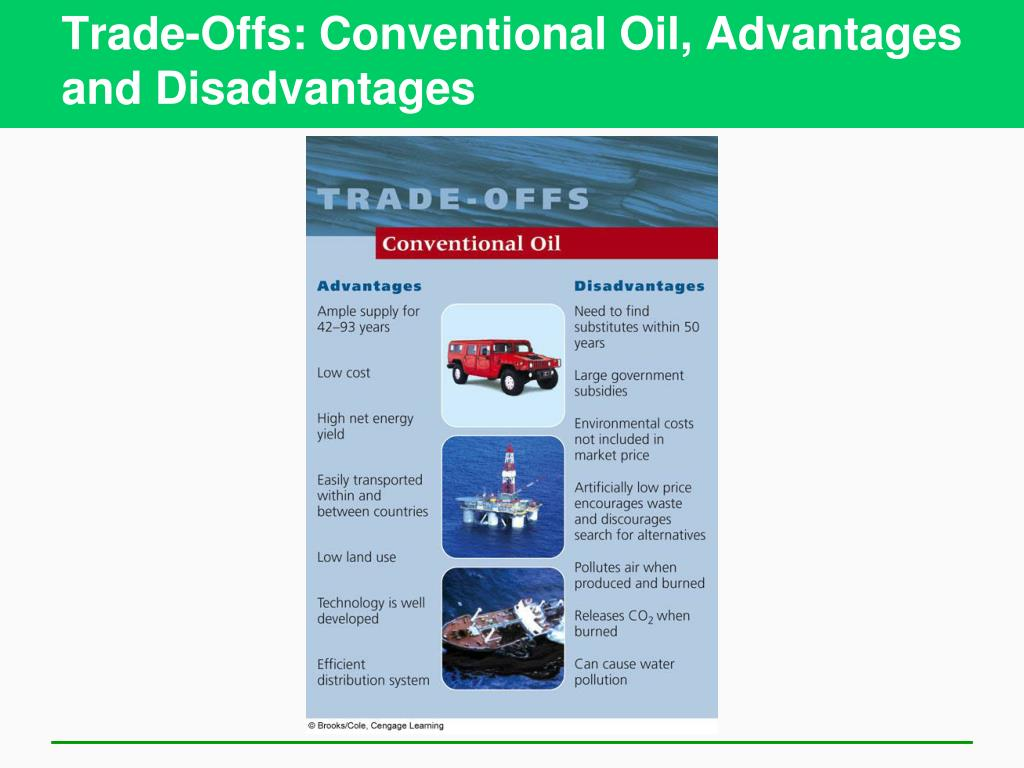 Trade-Offs: Conventional Oil, Advantages and Disadvantages