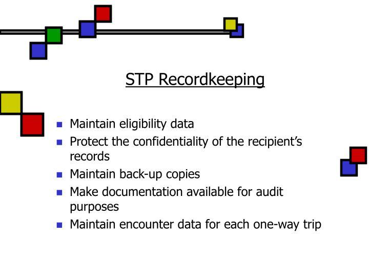 STP Recordkeeping