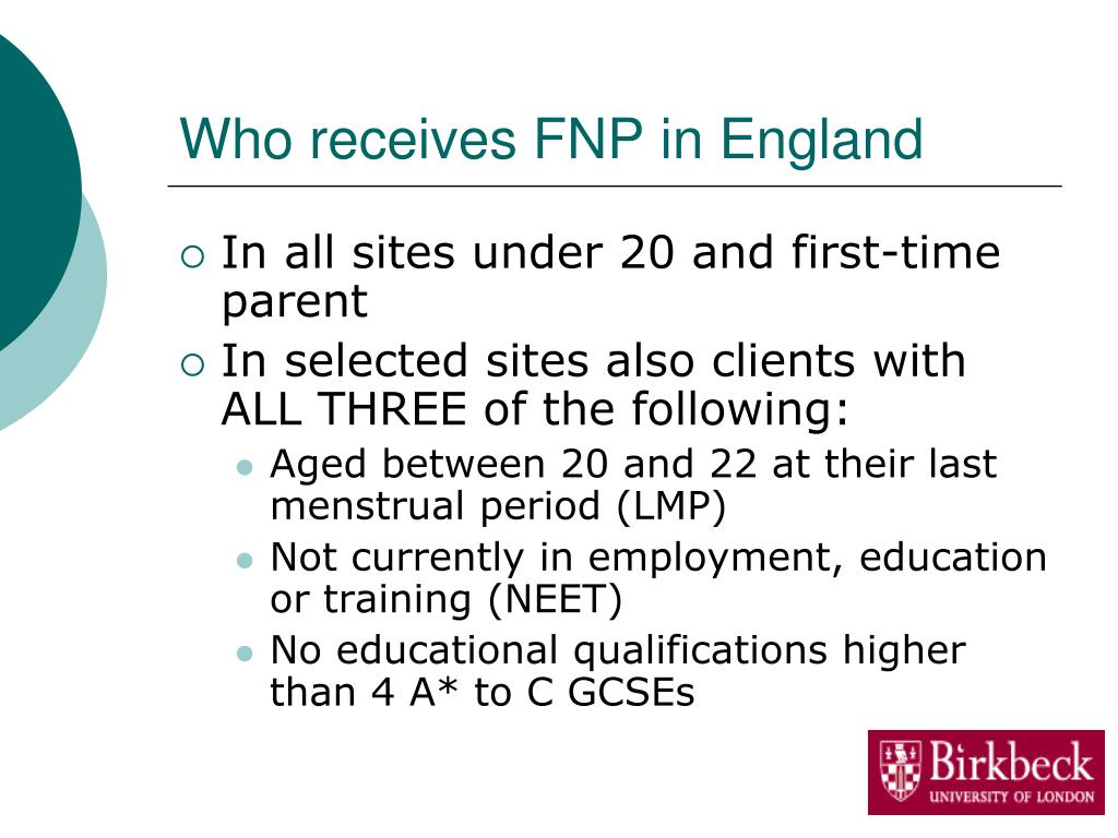 Who receives FNP in England