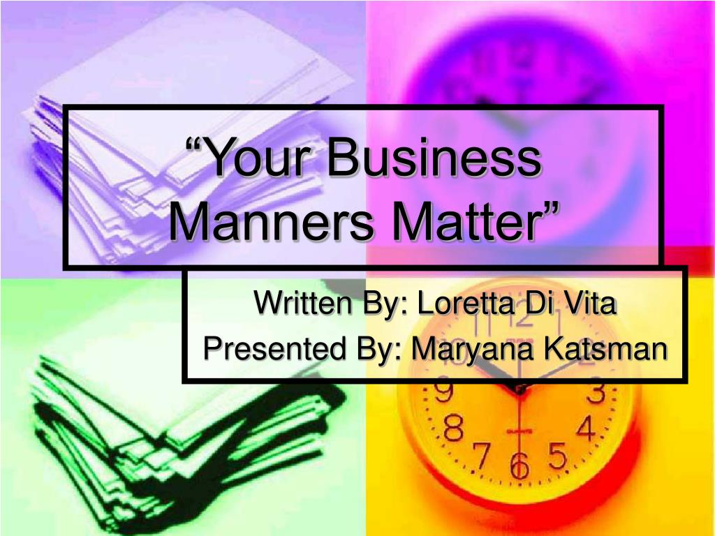 your business manners matter l.