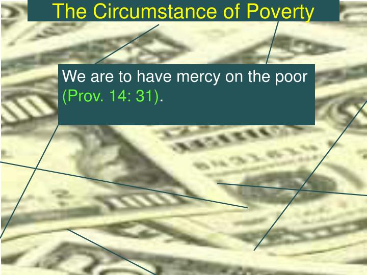 The circumstance of poverty2