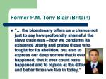 former p m tony blair britain