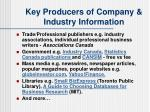 key producers of company industry information22