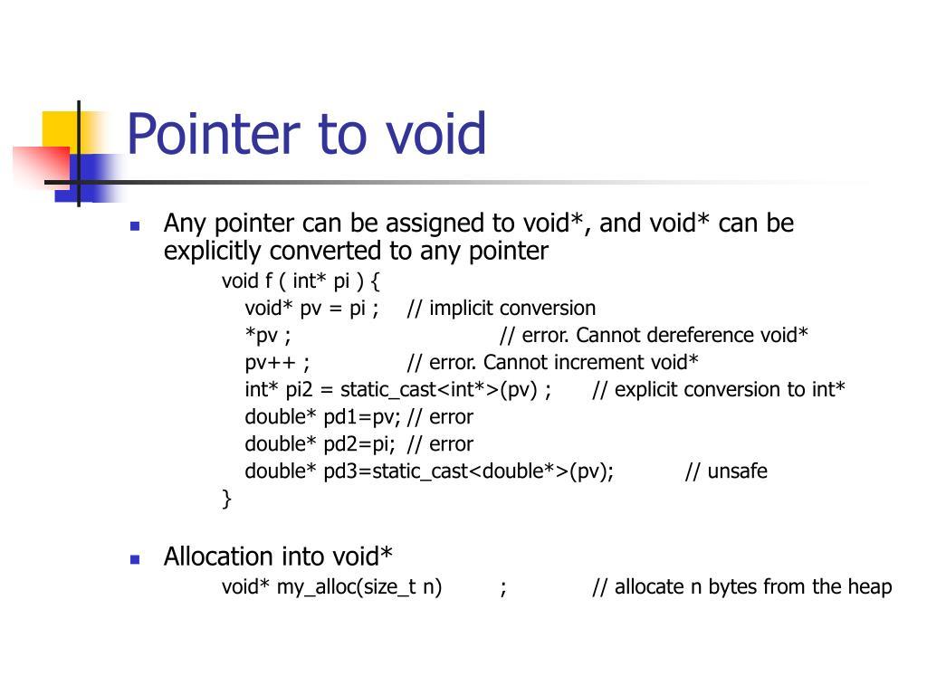 Pointer to void