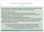 cross or free promotion39