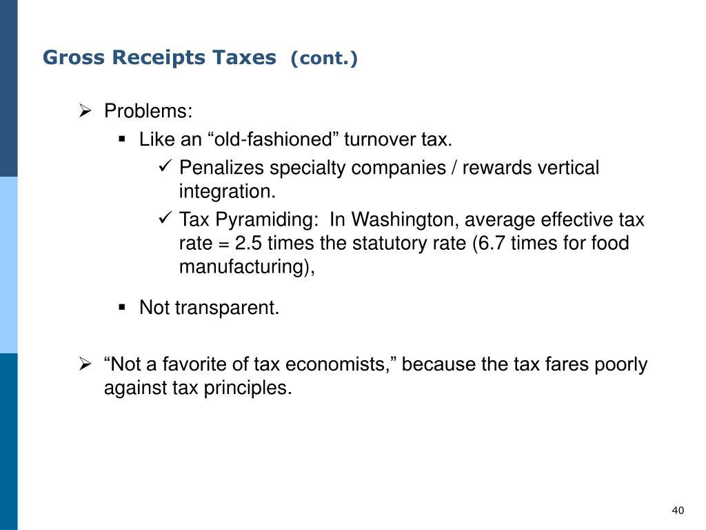 Gross Receipts Taxes