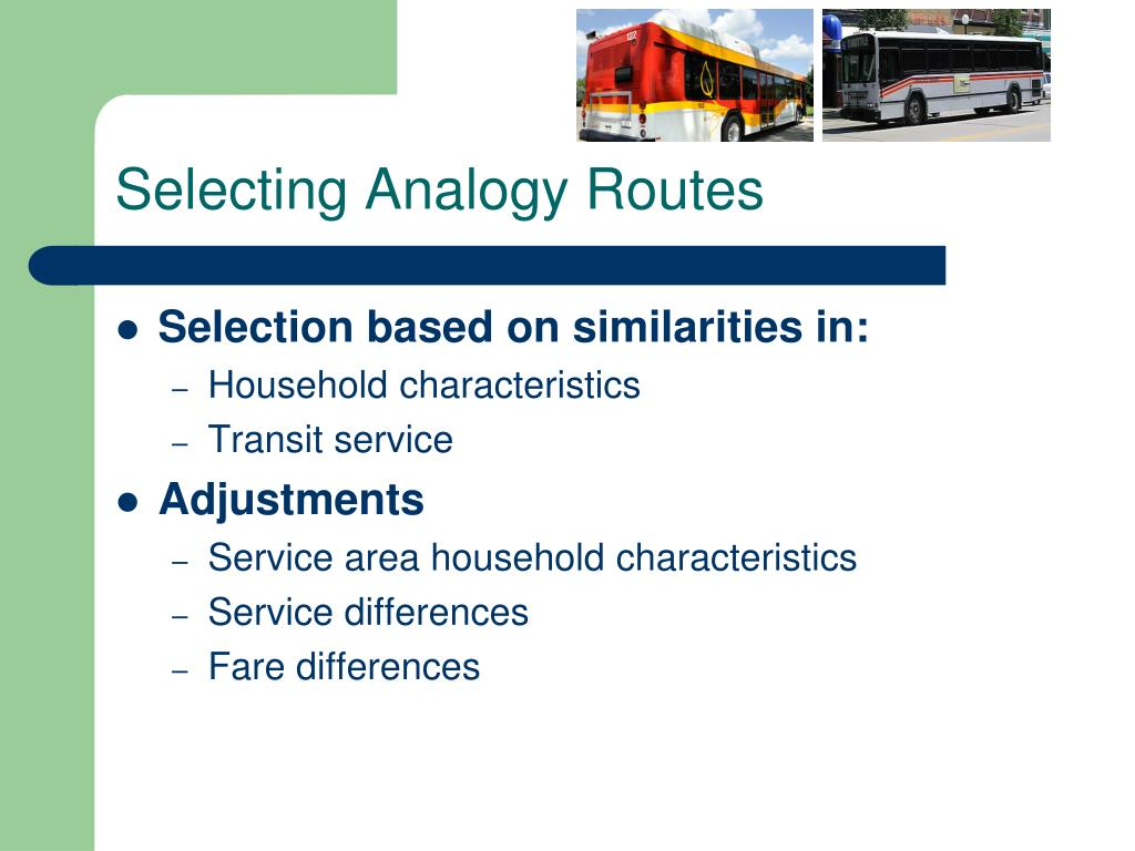 Selecting Analogy Routes