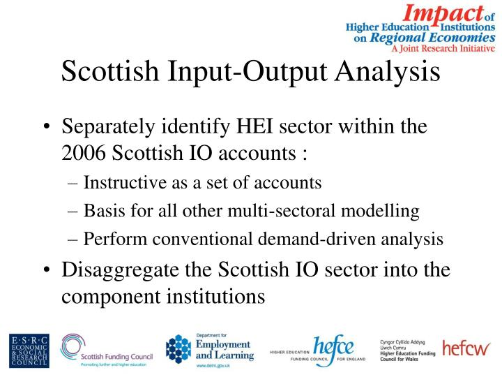 Scottish input output analysis