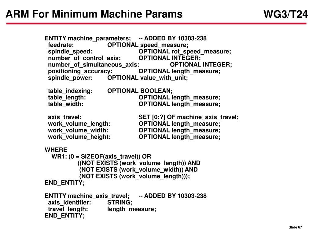 ARM For Minimum Machine Params