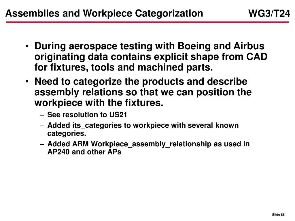 Assemblies and Workpiece Categorization