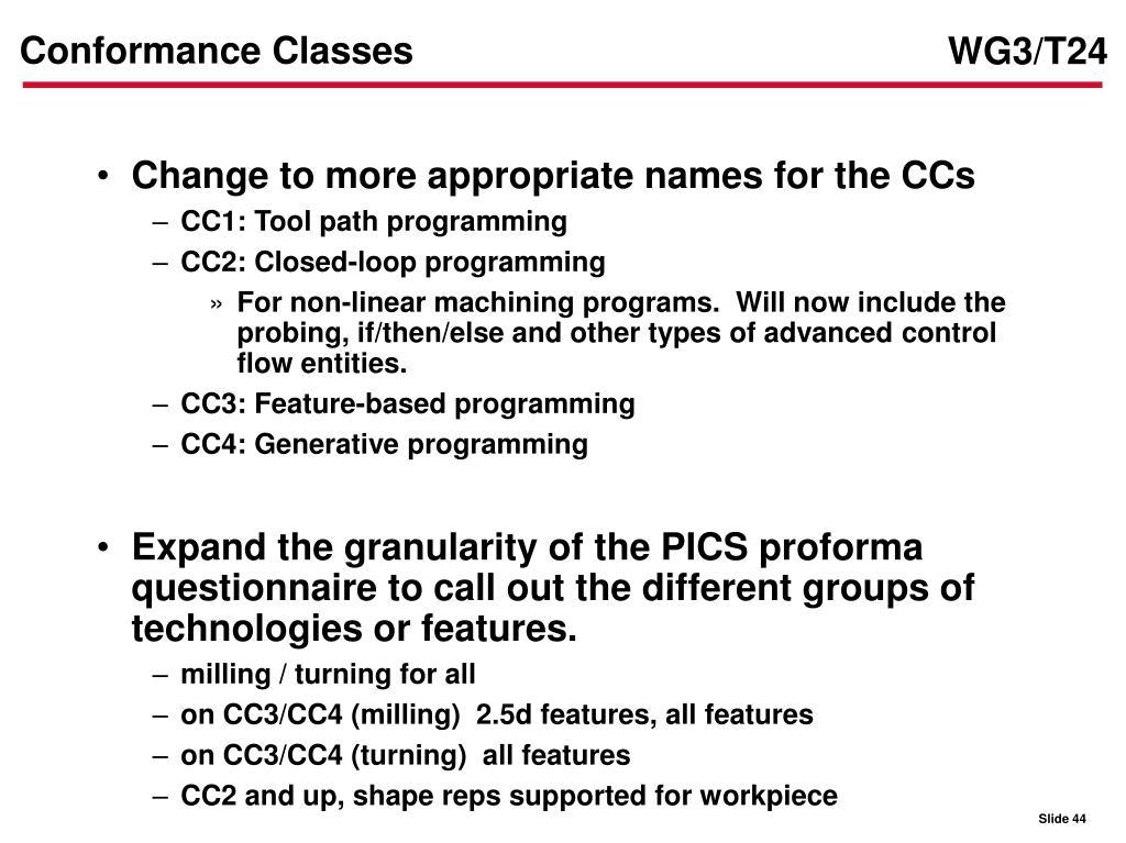 Conformance Classes