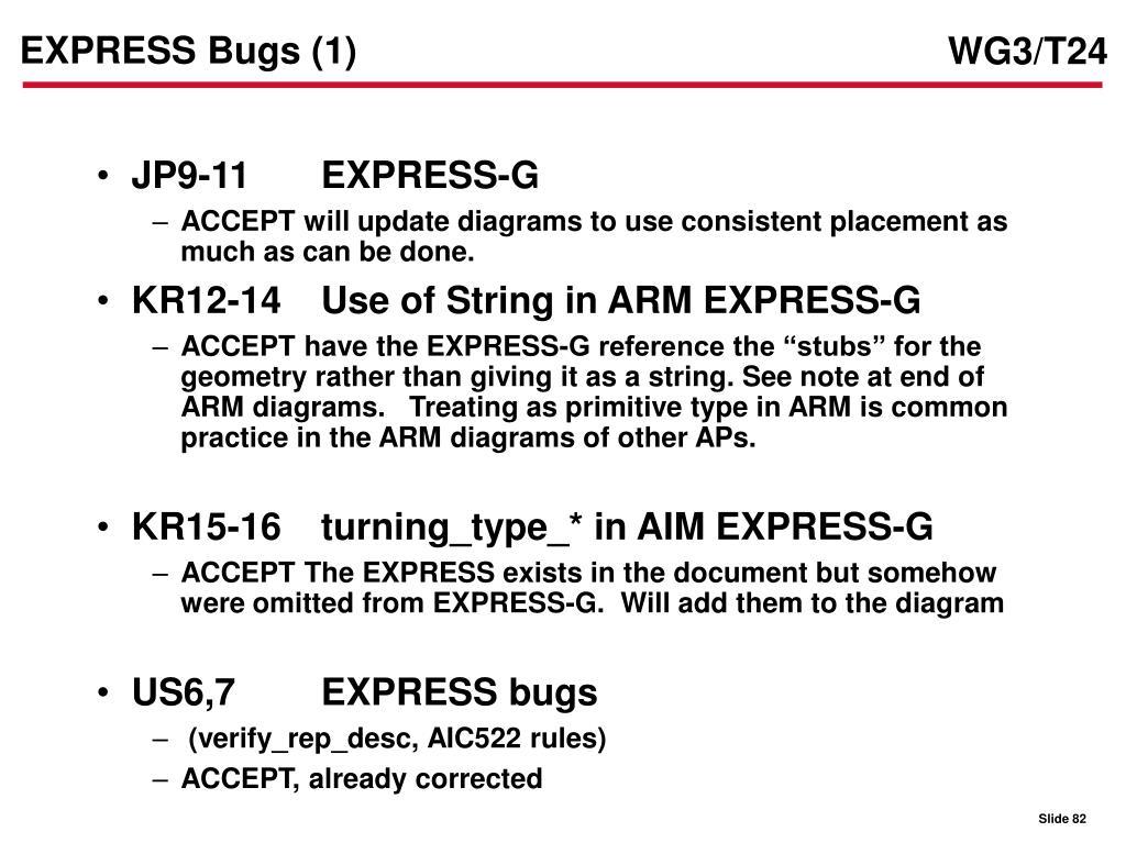 EXPRESS Bugs (1)
