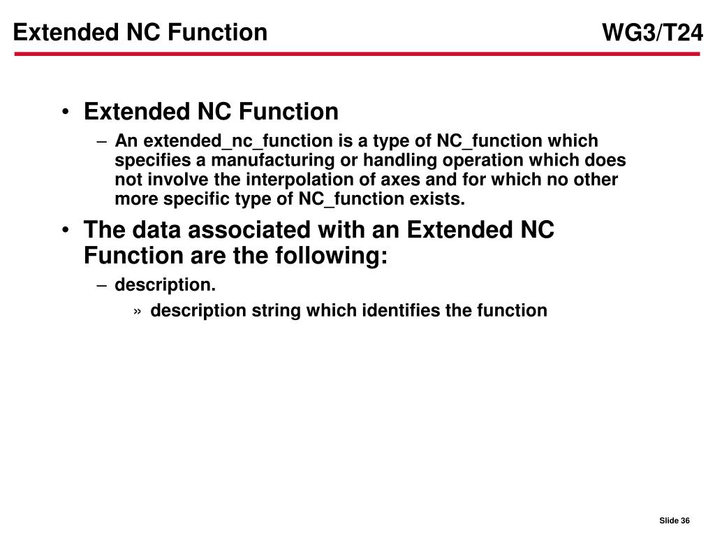 Extended NC Function