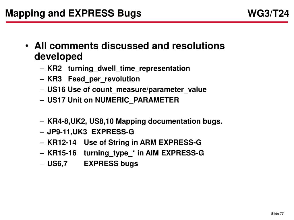 Mapping and EXPRESS Bugs