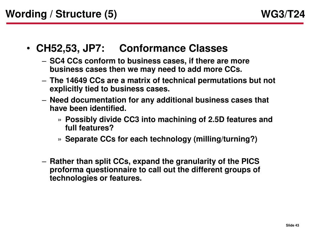Wording / Structure (5)