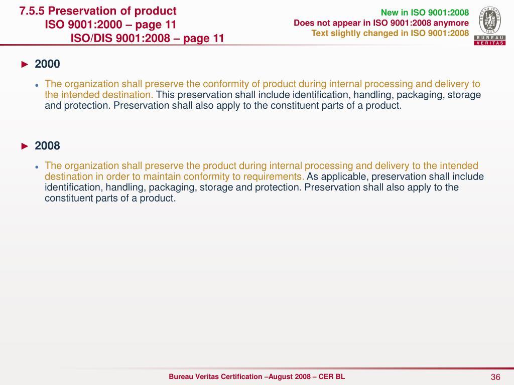 New in ISO 9001:2008