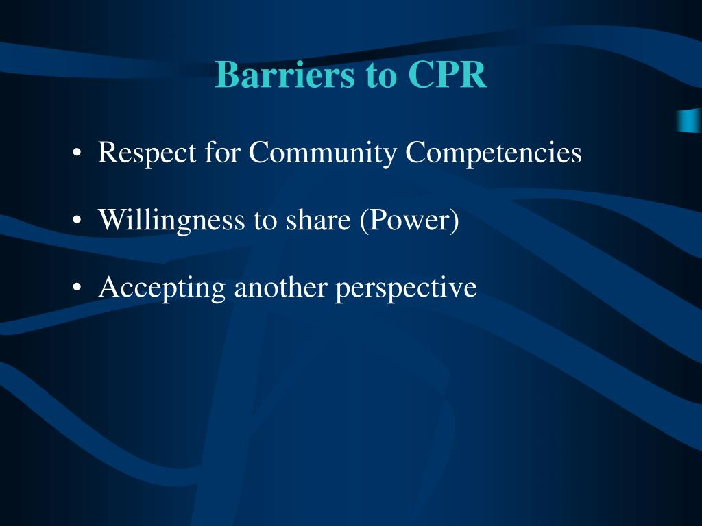 Barriers to CPR