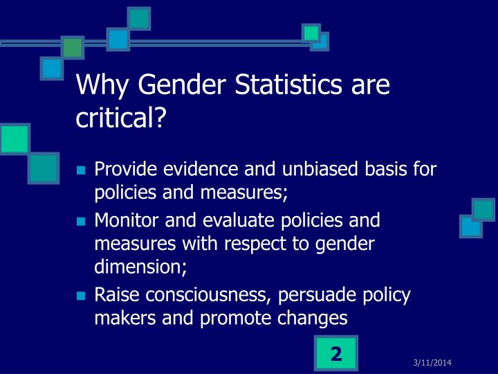 Why gender statistics are critical