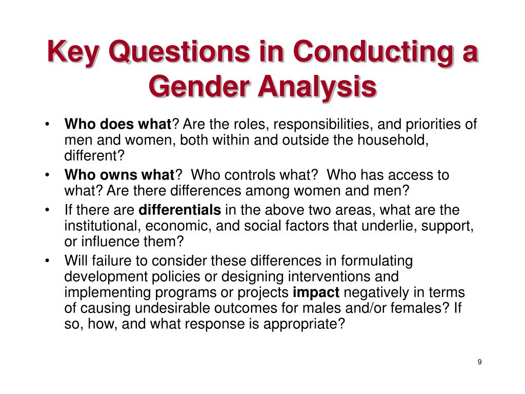 Key Questions in Conducting a