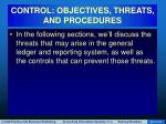 control objectives threats and procedures48