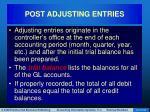 post adjusting entries
