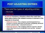 post adjusting entries14