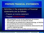 prepare financial statements21