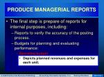 produce managerial reports28