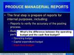 produce managerial reports31