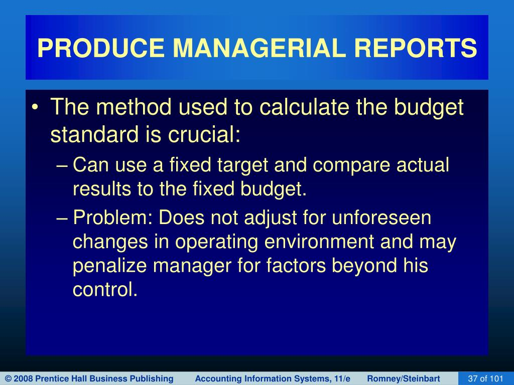 PRODUCE MANAGERIAL REPORTS