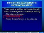 supporting management s information needs61