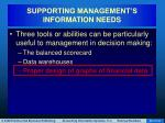 supporting management s information needs73