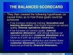 the balanced scorecard56