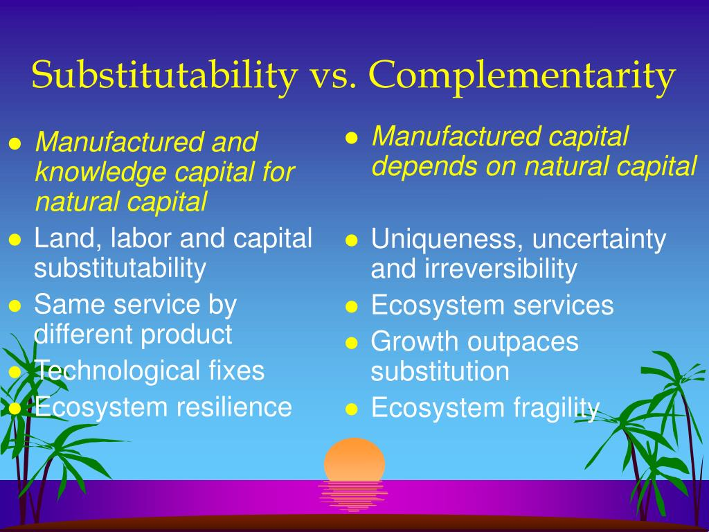 Manufactured and knowledge capital for natural capital
