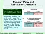 monetary policy and open market operations13