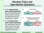 monetary policy and open market operations14