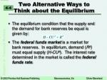 two alternative ways to think about the equilibrium