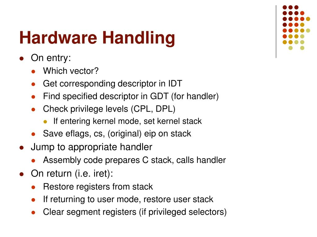 Hardware Handling