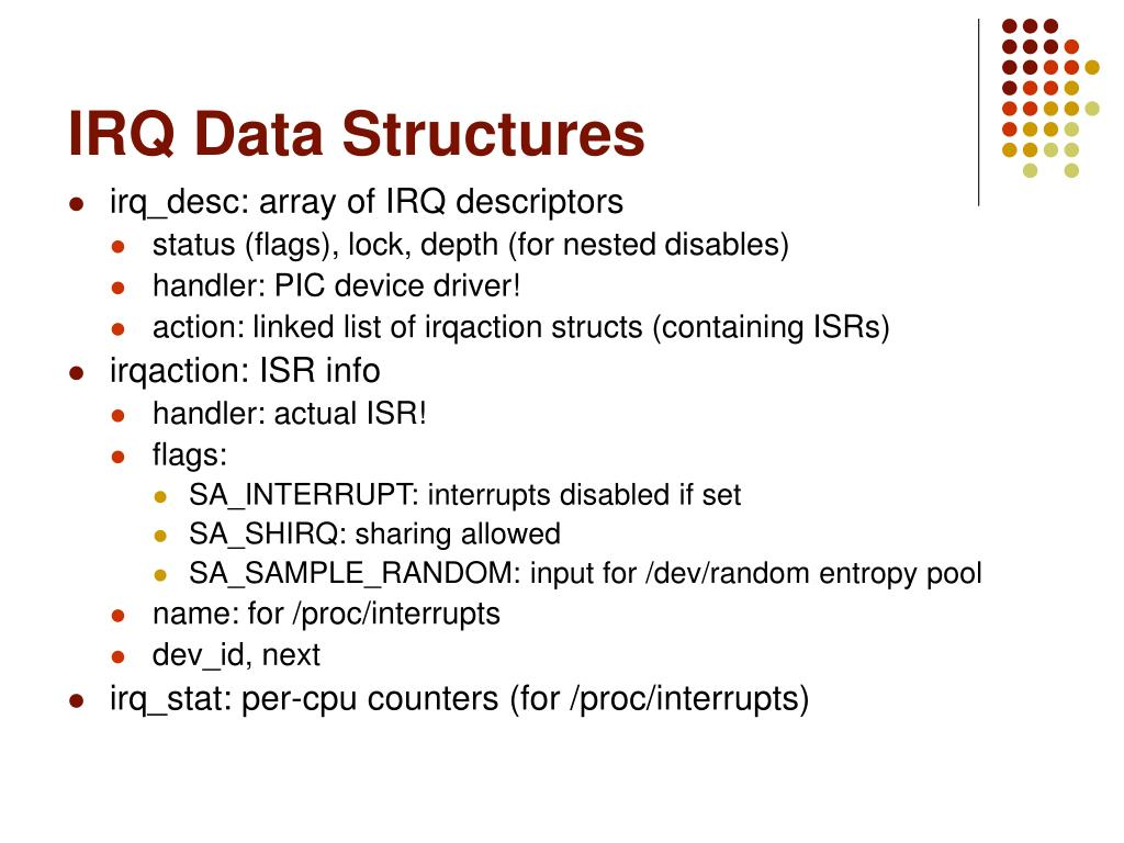 IRQ Data Structures