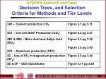 gpg2000 approach and steps decision trees and selection criteria for methods and tier levels