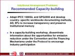 intuitional arrangement problems recommended capacity building61