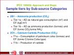 ipcc 1996gl approach and steps sample tiers by sub source categories