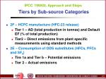 ipcc 1996gl approach and steps tiers by sub source categories22