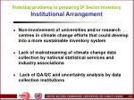 potential problems in preparing ip sector inventory institutional arrangement59