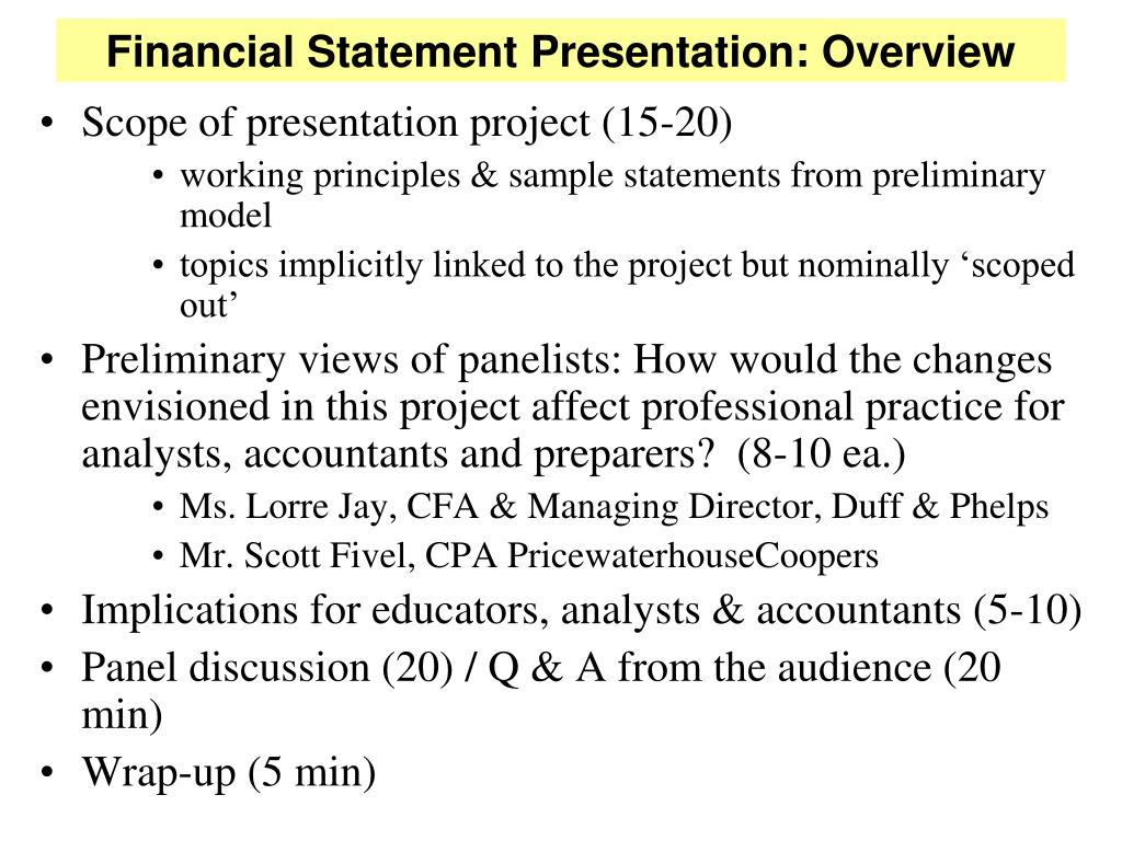 financial statement presentation changes Following is an illustrative example of a statement of changes in equity prepared according to the format prescribed by ias 1 presentation of financial statements abc plc statement of changes in equity for the year ended 31 st december 2012.