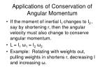 applications of conservation of angular momentum
