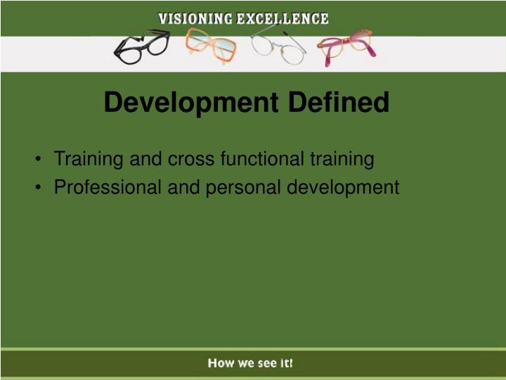 Development Defined