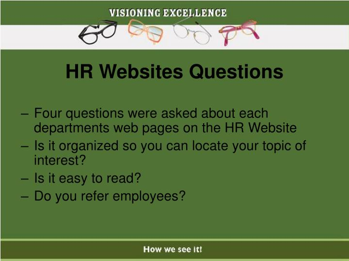 HR Websites Questions